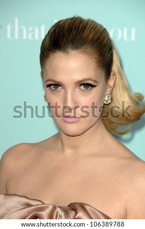 Drew Barrymore at the World Premiere of 'He's Just Not That Into You'. Grauman's Chinese Theatre, Hollywood, CA. 02-02-09 - stock photo