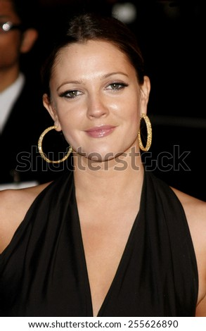 """Drew Barrymore attends the Los Angeles Premiere of """"Music and Lyrics"""" held at the Grauman's Chinese Theater in Hollywood, California on February 7, 2007.  - stock photo"""