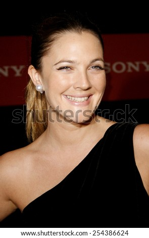 Drew Barrymore attends the 2006 Sony Global Partners Conference Gala Dinner held at Rodeo Drive in Beverly Hills, California on September 29, 2006.  - stock photo