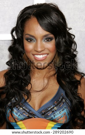 Drew Sidora attends the 'Step Up' Los Angeles Premiere held at the Arclight Theater in Hollywood, California on August 7, 2006.  - stock photo