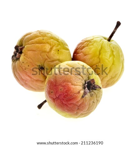 dried apple fruit isolated on white background - stock photo