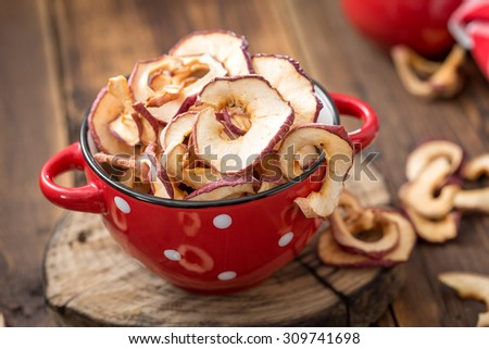 dried apples - stock photo