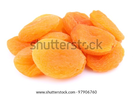 Dried apricots. Use it for a health concept. - stock photo
