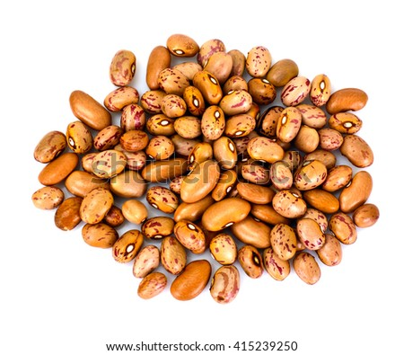 Dried Beans on White Background Studio Photo
