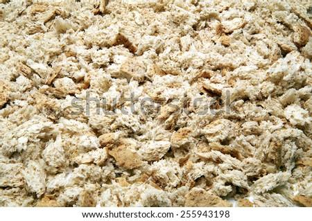 Dried bread crumbs - stock photo