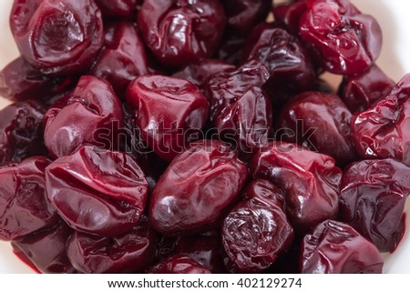 Dried cherry. Photo can be used as a whole background. - stock photo