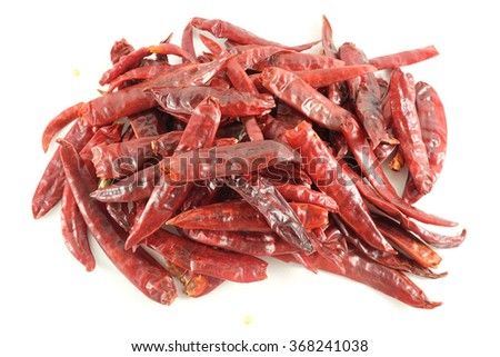 dried chili - stock photo