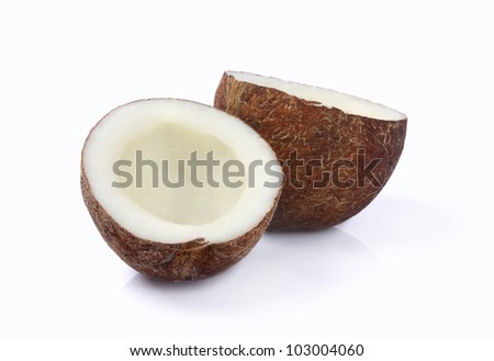 Dried Coconut - stock photo