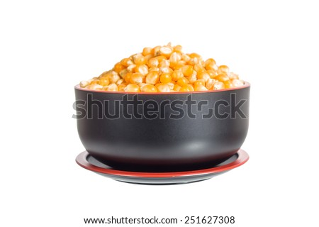 dried corn seed - stock photo