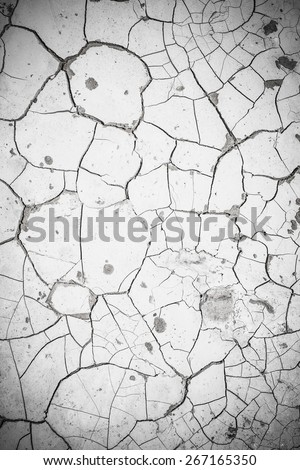 Dried cracked soil texture background - stock photo