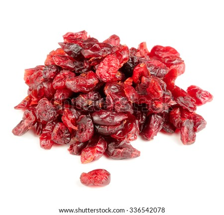 Dried Cranberry Isolated on White Background - stock photo