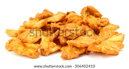 Dried dehydrated pineapple - stock photo