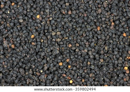 dried elderberries for background use - stock photo