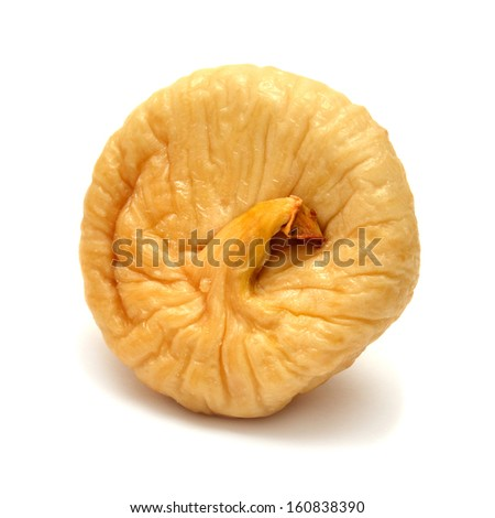 Dried fig isolated on white background - stock photo