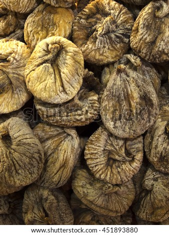Dried figs background - stock photo