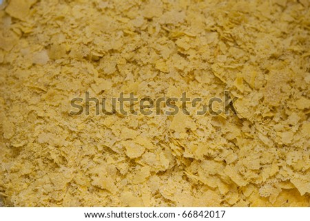 Dried flakes of yeast texture - stock photo