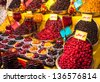 Dried fruit for sale, Tehran, Iran - stock photo