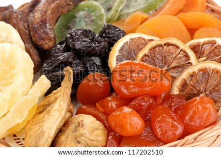 Dried fruits close-up - stock photo