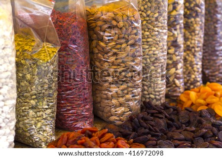 dried fruits in the market