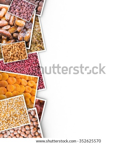 Dried fruits of the photo on a white background. - stock photo