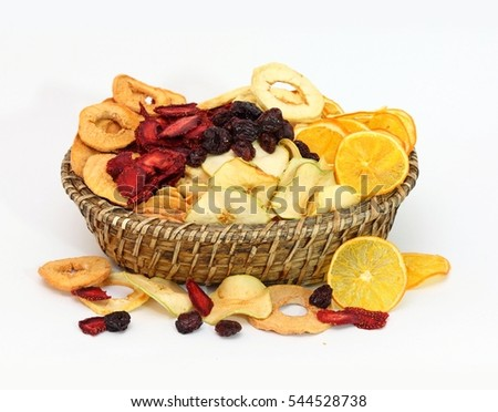 Dried Fruits on the Basket