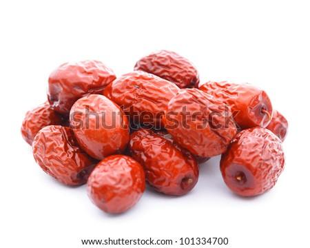 dried jujube fruits, chinese herbal medicine - stock photo