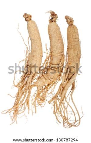 Dried Korean Ginseng; Non unsharpened file - stock photo
