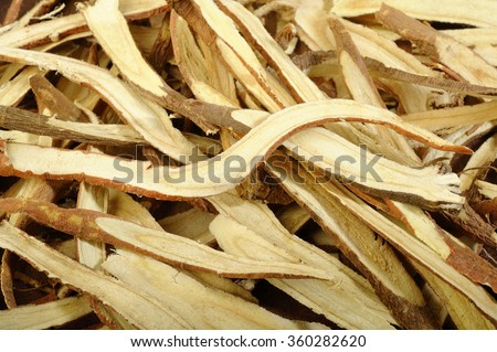 dried liquorice roots - stock photo