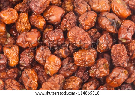 Dried monkey apples background