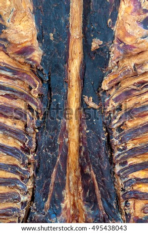 Dried mutton with spine and ribs