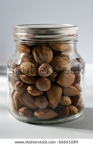 dried nuts - stock photo