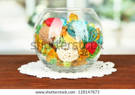 What To Put In A Glass Bowl For Decoration Entrancing Dried Oranges Wicker Balls Other Home Stock Photo 128147873 Decorating Inspiration