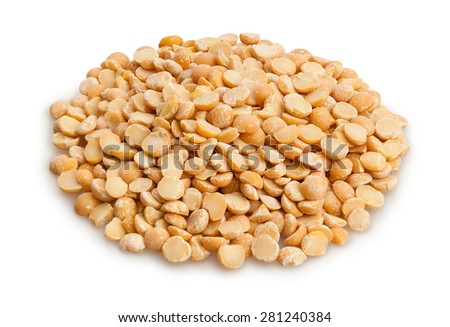 dried peas isolated - stock photo
