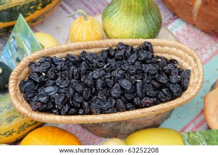 Dried plum - stock photo