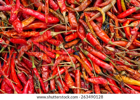 Dried Red Chilli - stock photo