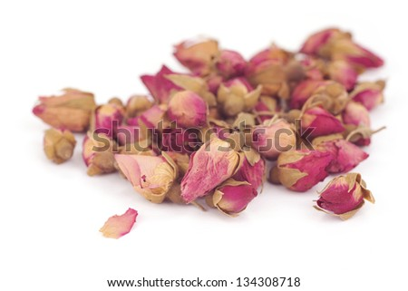 Dried Rose Buds; Non sharpened file - stock photo
