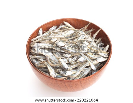 Dried sardine - stock photo