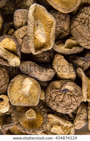 Dried shiitake background