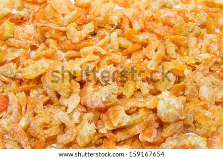 Dried shrimp for background
