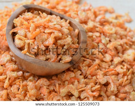 dried shrimp in cup