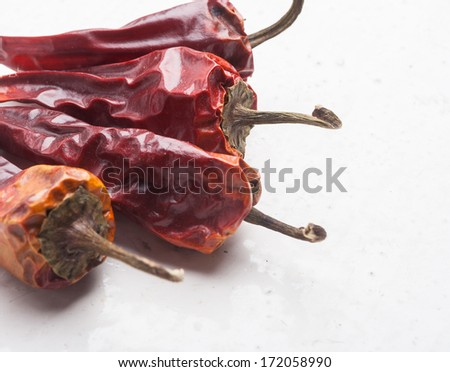 dried spicy peppers