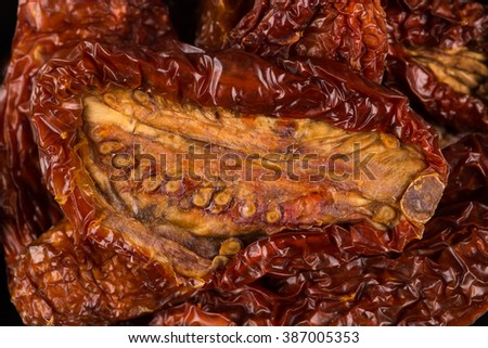 dried tomatoes close up can be used background