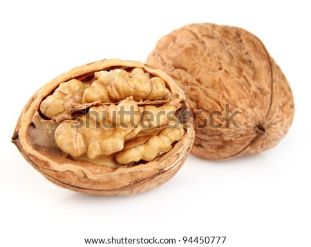 Dried walnuts - stock photo