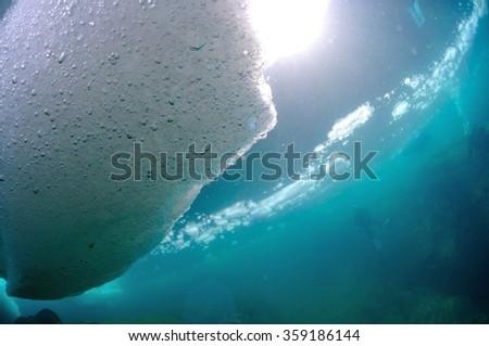 drift ice - stock photo
