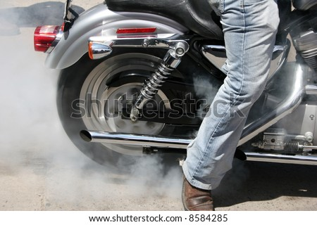 Cars Overheated Radiator Shoots Out Hot Stock Photo