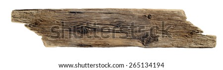 driftwood cutout - stock photo