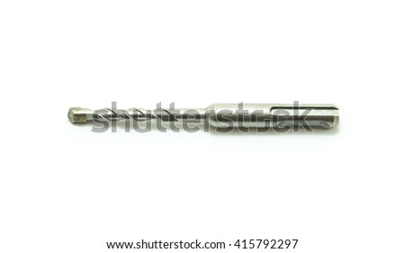 drill bit for brick and concrete on a white background