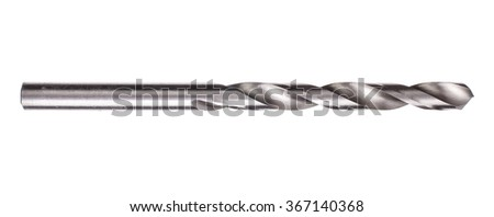 Drill bit isolated on white background - stock photo