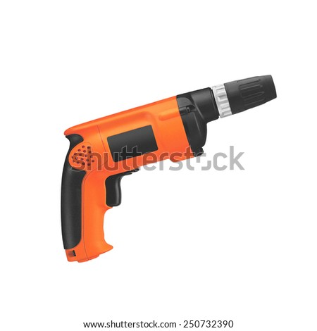 drill isolated on white