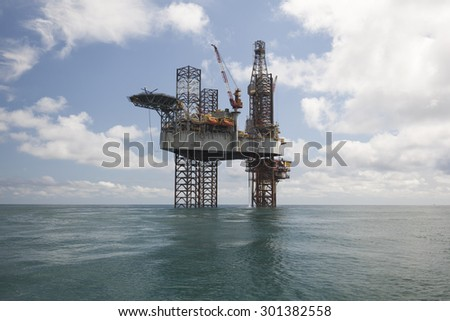 Drilling rig at sunny day